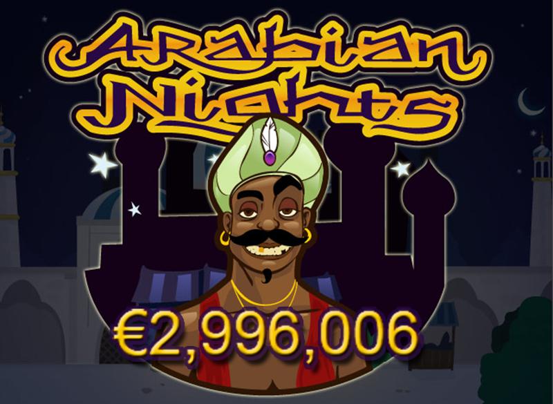 El bote de la tragaperras Arabian Nights a punto de alcanzar los 3 millones de euros