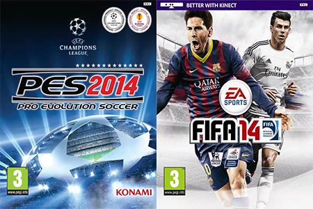 PES 2014 no está a la altura de FIFA 14